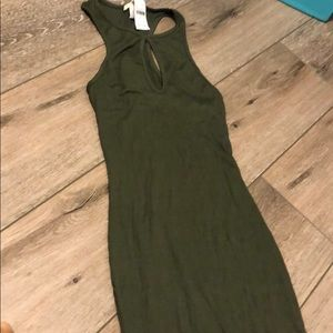 Green Poetry Peep hole dress medium